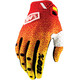 100% Ridefit Gloves red/yellow